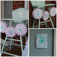 high chair decor