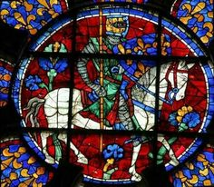 knight on horseback....Chartres Cathedral