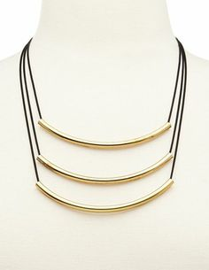 Curved Bar Layered Necklace: Charlotte Russe