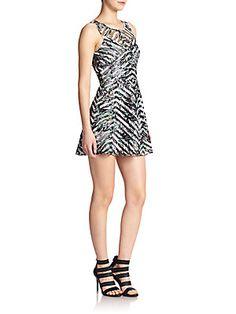 Parker Mirabella Printed A-Line Dress
