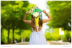 PSK photography team captured Chau holding her graduation cap during a graduation portrait session in Fairfax, Virginia.
