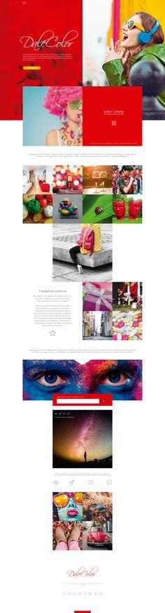 Dale Color Web Design #WebDesign #Inspiration #WebSite #UX #FrontEnd Color Themes, Web Design, Website, Party, Poster, Inspiration, Product Development, Biblical Inspiration, Design Web