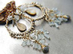 Bohemian Wedding Statement Earrings Large Chandelier
