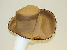 Lord & Taylor c. 1946 Straw hat The Metropolitan Museum of Art