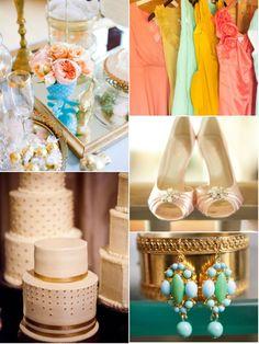 pretty spring wedding colors