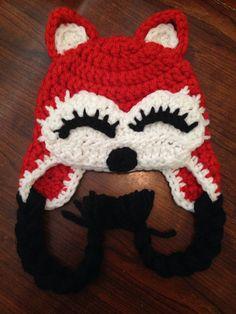 Fox Crochet Hat Foxy Lady Baby Crochet Hat Child Hat on Etsy, $28.00