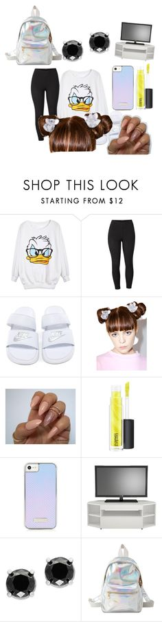 """Untitled #155"" by dimondinyyy ❤ liked on Polyvore featuring Venus, Ponytail Pals, MAC Cosmetics, Nexera, Effy Jewelry, Charlotte Russe and plus size clothing"