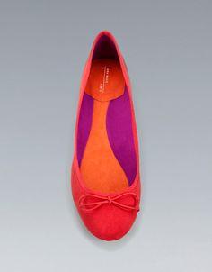 BASIC BALLERINA WITH BOW - Shoes - Woman - ZARA