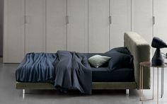 Leather bed with upholstered headboard DOZE Fine Furniture, Luxury Furniture, Modern Furniture, Modern Platform Bed, Platform Beds, Teal Bedding, Luxury Bedding, Modern Bedding, Modern Beds