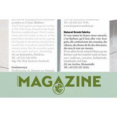 - Air France Magazine 2015 - Efharistó Alexandra Leroux & Damien de Medeiros. #naturalgreekfabrics #natural #fabrics #madeingreece #airfrance #magazine #travel #shopping #athens #greece