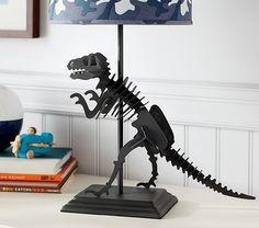 Dinosaur Lamp Base   Pottery Barn Kids - I feel like I could make something like this.