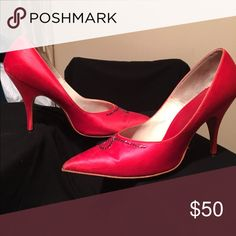 Vintage Pumps Red Rubies QualiCraft pumps. Good condition Qualicraft Shoes Heels