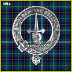 BELL Clan Crest  Pewter Badge CB02. $22.98, via Etsy.