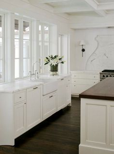 Design Chic, windows to countertop, this is one of the most important things you can do in a kitchen for light.