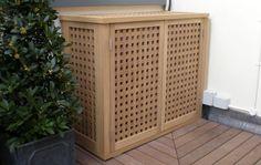 Air Conditioner Unit Cover Wood   Fancy Decorative Air Conditioner