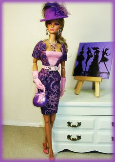 OOAK Outfit Dress Bodysuit for Silkstone Fashion Royalty Vintage Barbie | eBay