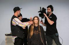 Eugene Souleiman works his magic during his Hair Expo Australia masterclass with Mizutani.