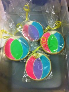 Wrapped Beach Ball cookies