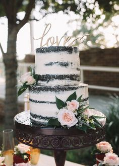 """stylish """"at home"""" elopement - Cakes & Dessert Tables recipe . - stylish """"at home"""" elopement – Cakes & Dessert Tables recipes recipes - Wedding Cake Rustic, Rustic Cake, Chocolate Naked Cake, Chocolate Wedding Cakes, Oreo Wedding Cake, Wedding Chocolates, Gateaux Cake, Engagement Cakes, Engagement Cake Toppers"""