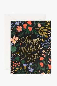 Wildwood Mother's Day Card – Curate + Co. Gcse Art Sketchbook, Bible Study Journal, Rifle Paper Co, Happy Mothers Day, Special Day, Raspberry, Patches, Greeting Cards, Wire Binding