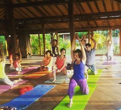 @sarva_mavela -  After having only 25 hours of sleeping first yoga class at 6:00  ...not used to .. #Bali#Indonesia#yoga#tabanan#balianbeach #pondokpitaya #yogaeverywhere #yogaeverydamnday #yogalove #beautiful #beautifulsouls #holiday #vacation #nature #rustic #goodmorning #natureart #yogi by pondokpitaya
