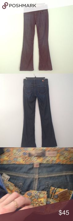 """LABOR DAY WEEKEND SALE. Paige Denim Super soft flared denim jeans by Paige in a size 28. Length is 40.5"""" and inseam measures 8 1/8"""" Paige Jeans Jeans Flare & Wide Leg"""