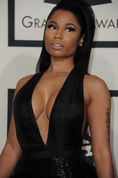 """songsforwomyn: """"""""Nicki Minaj arrives on the red carpet for the 57th Annual Grammy Awards in Los Angeles February 8, 2015. """" BURY ME """""""