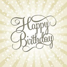 happy birthday vector font - Google Search