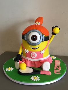 Depicable Me. Minion tennis cake - Cake by Micol Perugia