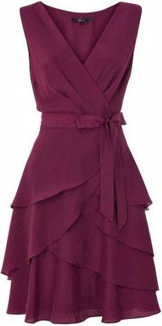 Adorable sleeveless mini dress fashion cute outfits for girls 2017 Pretty Dresses, Beautiful Dresses, Dress Skirt, Dress Up, Wrap Dress, Floaty Dress, Chiffon Dress, Dress Patterns, Dress To Impress