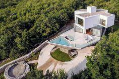 design modern residence. Modern Gumno House in Croatia Displaying a Strining Angular Geometry.