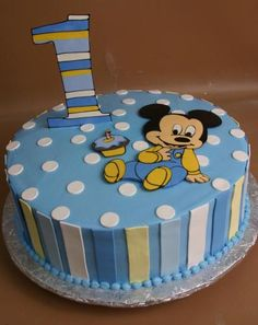 Baby Mickey Mouse themed banner Vinnys 1st Birthday Mickey