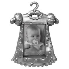 love this! Baby girl clothes#Malden Baby Pewter Juvenile Picture Frame, Girl's Outfit