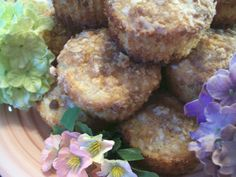 Pineapple Muffins With Coconut and Brown Sugar Topping
