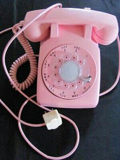 old pink phone
