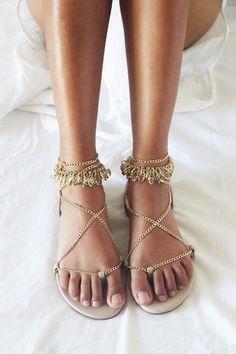 6330430d83a58 FLORA FLAT SANDALS NUDE GOLD Gold Flat Sandals
