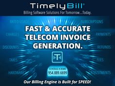 Fast and Accurate Telecom Invoice Generation. Cloud Based, Engineering, Building, Buildings, Technology, Architectural Engineering