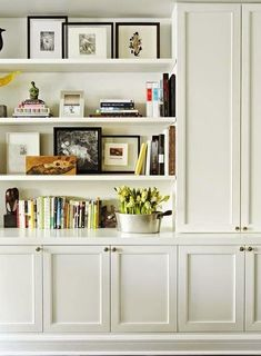 Home-Styling: Low cost Built-ins using Ikea products - liking this set up for the basement http://homeremodelinggrid.us/remodeling-your-bathroom-in-a-cost-effective-manner/