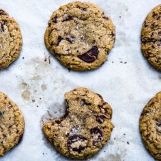 """Whiskey and Rye Chocolate Chip Cookies Recipe - per Bon Appetite, """"the perfect chocolate chip cookie""""."""
