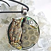 Petoskey Stone Owl Necklace