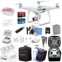 DJI Phantom 4 PRO Drone Quadcopter Bundle Kit with 4K Professional Camera Gimbal and MUST HAVE Accessories - http://allcamerasportal.com/dji-phantom-4-pro-drone-quadcopter-bundle-kit-4k-professional-camera-gimbal-must-accessories/