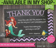 85% OFF The Little Mermaid Invitation INSTANT DOWNLOAD