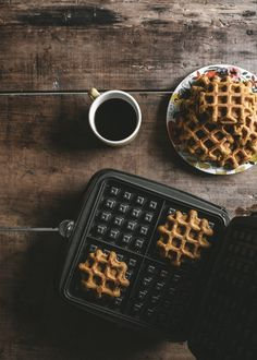 Pumpkin Spice Belgian Waffles + Toasted Pecans - offbeat + inspired