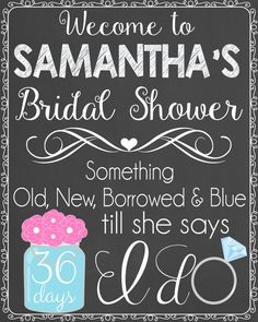 Old New Borrowed & Blue Bridal Shower by LaLaExpressions on Etsy