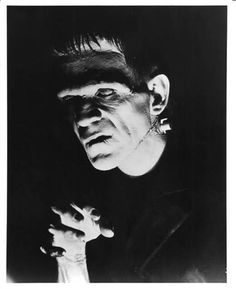 Boris Karloff as The Frankenstein Monster Scary Movies, Old Movies, Horror Movies, Hollywood Monsters, Scary People, Gothic People, Horror Monsters, Frankenstein's Monster, Famous Monsters