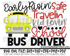 Bus driver svg  school bus svg  back to school svg