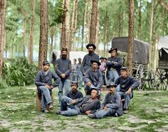 Colorized pic of Union soldiers 1863 [512x405] - Imgur