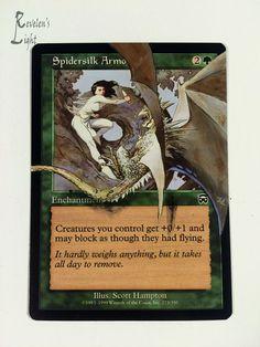 Spidersilk Armor - MTG Alter - Revelen's Light Altered Art Magic Card