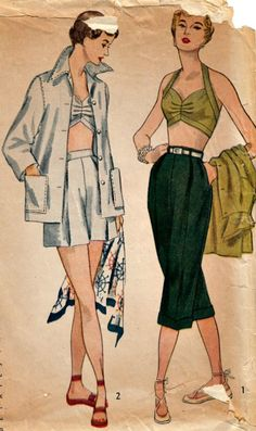 1950s Summer Separates Pattern  SIMPLICITY by ShellMakeYouFlip