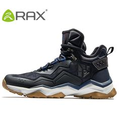 online store 8ea93 9b8ec RAX Mens Waterproof Hiking Shoes Mountain Hiking Boots Genuine Leather Men  Breathable Waterproof Trekking Shoes Outdoor Man